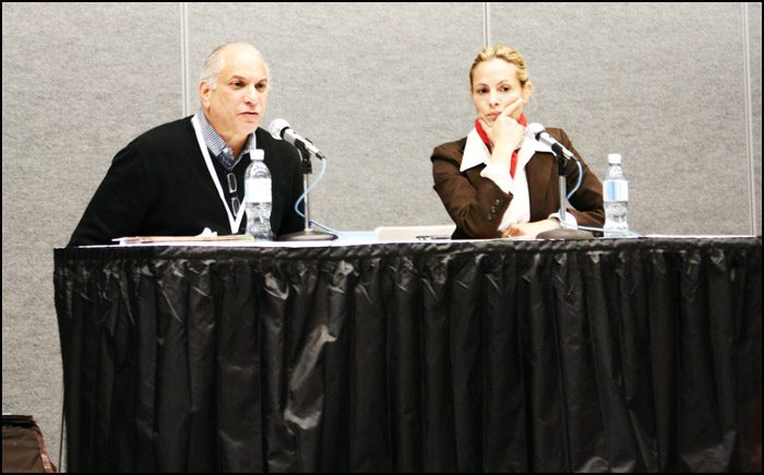 Joseph Blumberg and Maria Bello