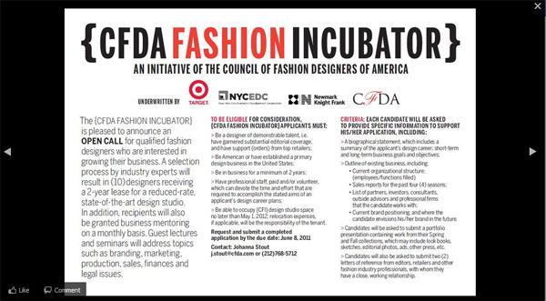CFDA Incubator