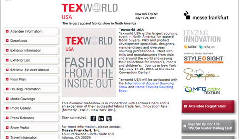 TexWorld USA – Open for Registration