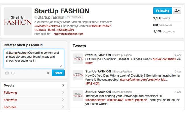 StartUp FASHION Twitter