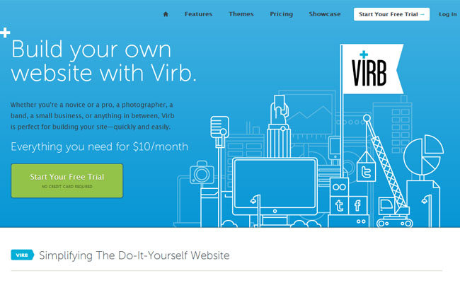 VIRB Create your own website