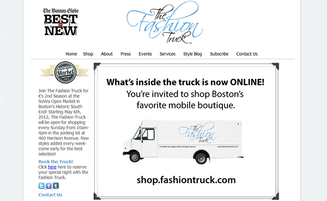 The Fashion Truck mobile Retail Boutique