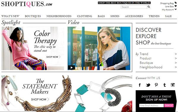 Shoptiques, e-commerce for Independent Boutiques