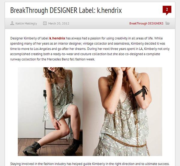 BreakThrough DESIGNER k.hendrix