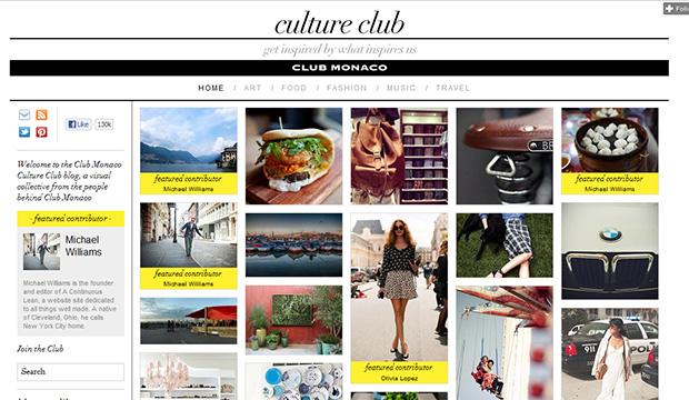 Club Monaco Tumblr Page