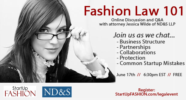 StartUp FASHION Legal event