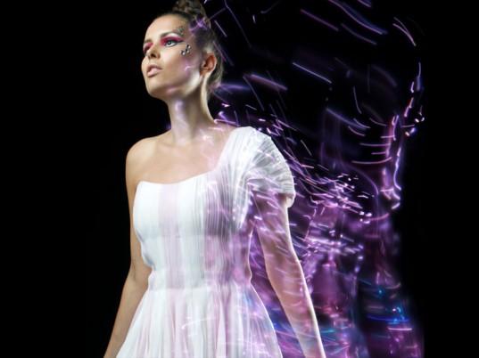 LED textile dress