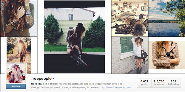 Free People Fashion Business Instagram