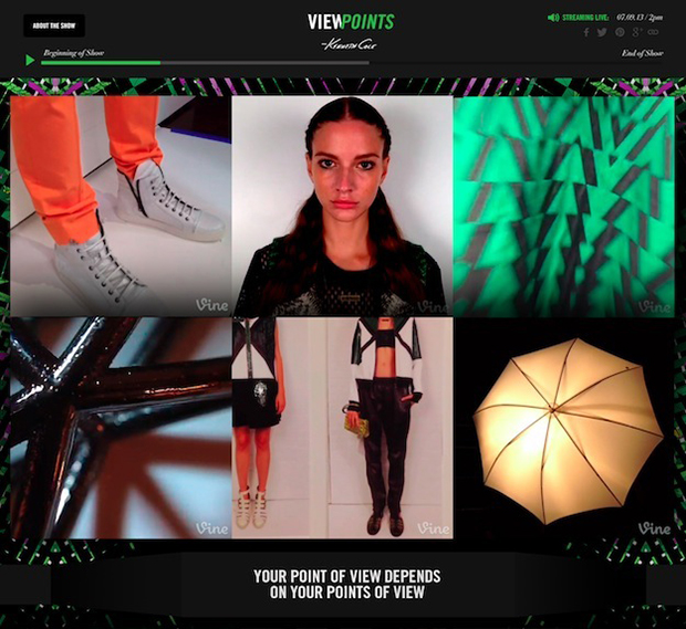 Kenneth Cole Viewpoints Vine Campaign