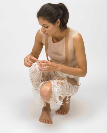 Camille Cortet snake skin textiles
