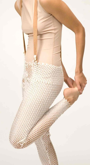 snake skin pants by caille cortet