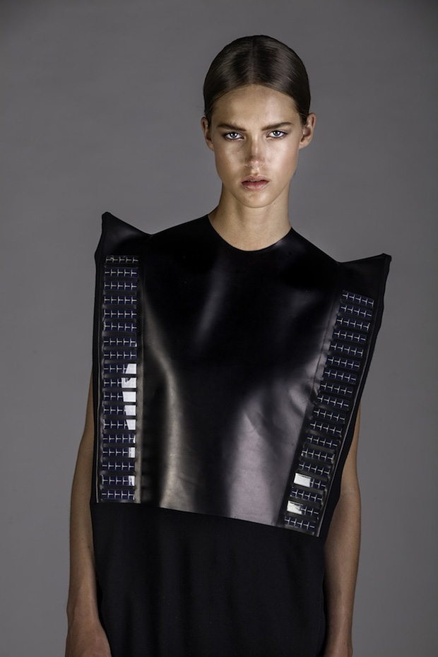 solar powered fabric fashion