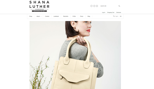 Shana Luther Handbags website