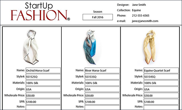 Fashion business plan sample