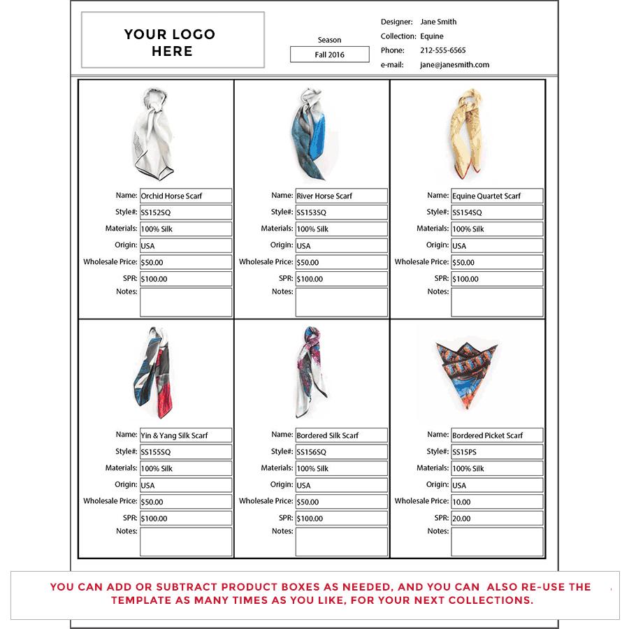 Wholesale Line Sheet Template. wholesale line sheet template free ...