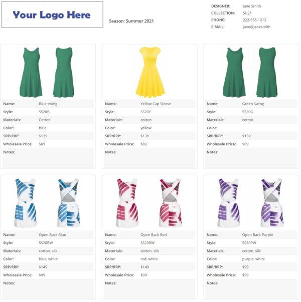 how to make line sheet fashion