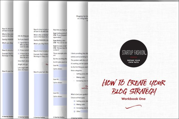 fashion blog strategy workbook