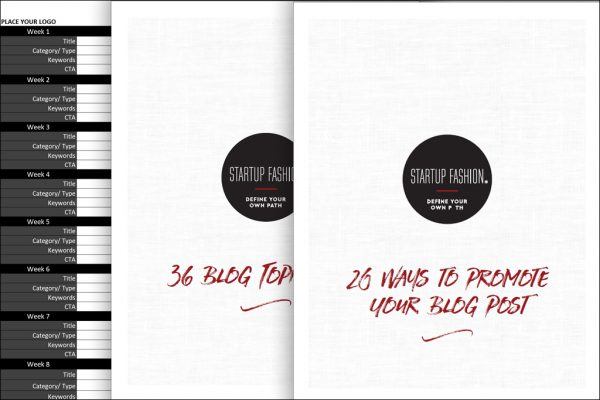 Fashion blog strategy workbook extras