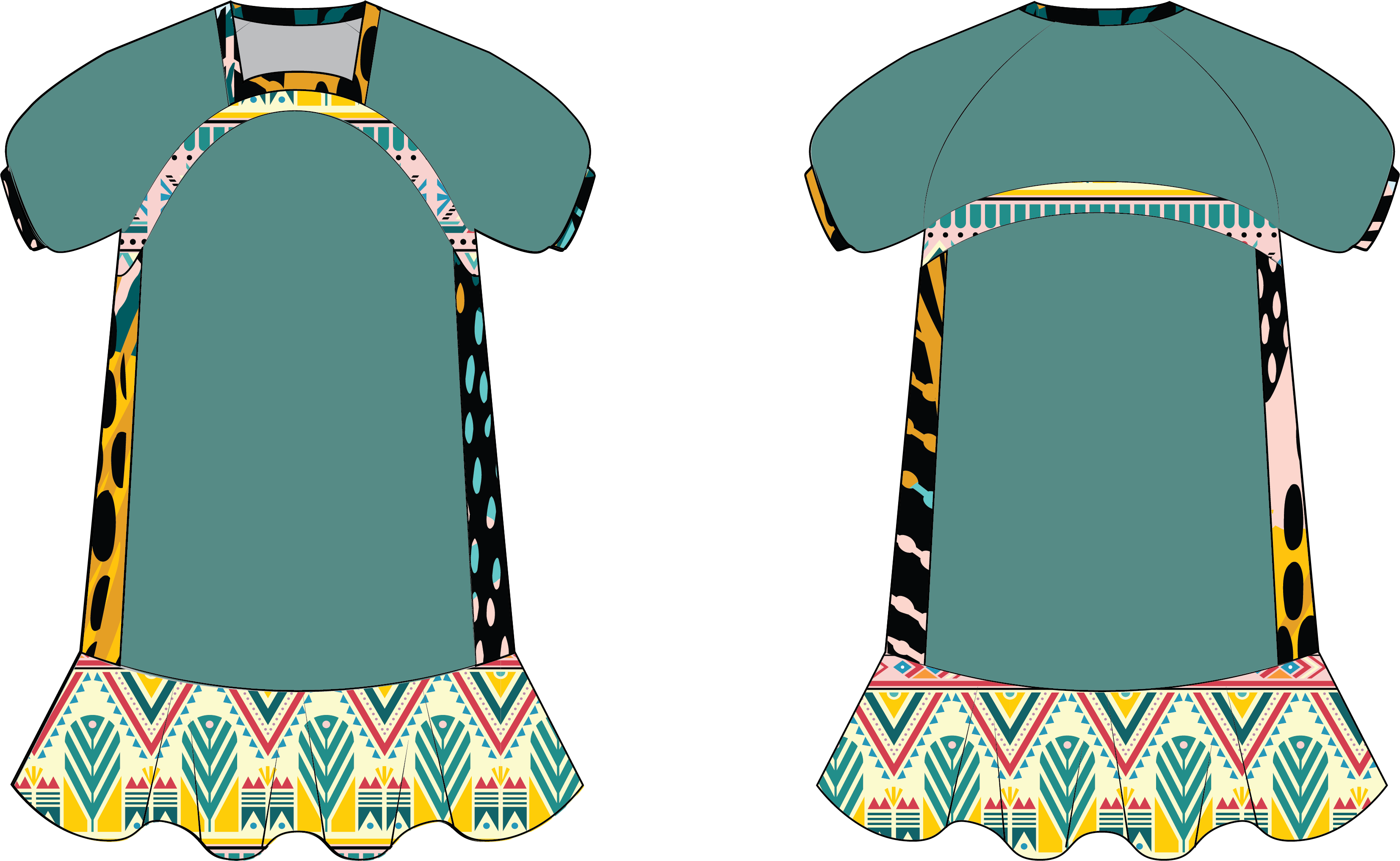 color-up tunic